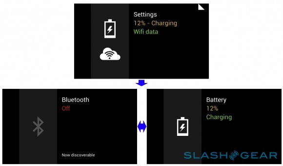 google glass interface cards, battery, bluetooth