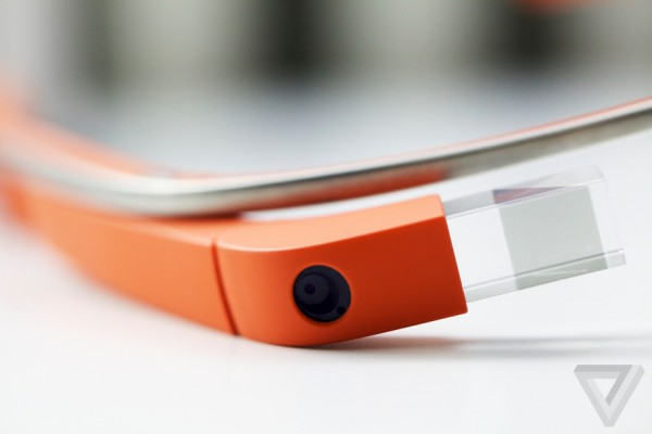 orange google glass demo