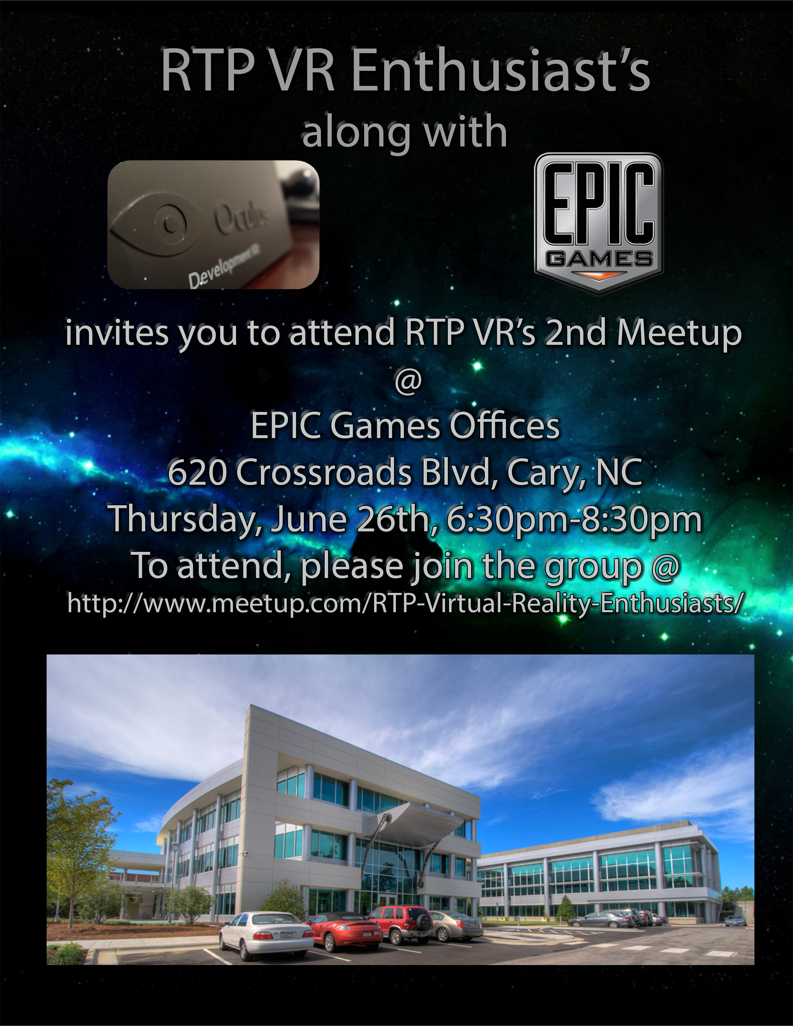 News Bits: The Raleigh NC VR Meetup at EPIC Games HQ on ...