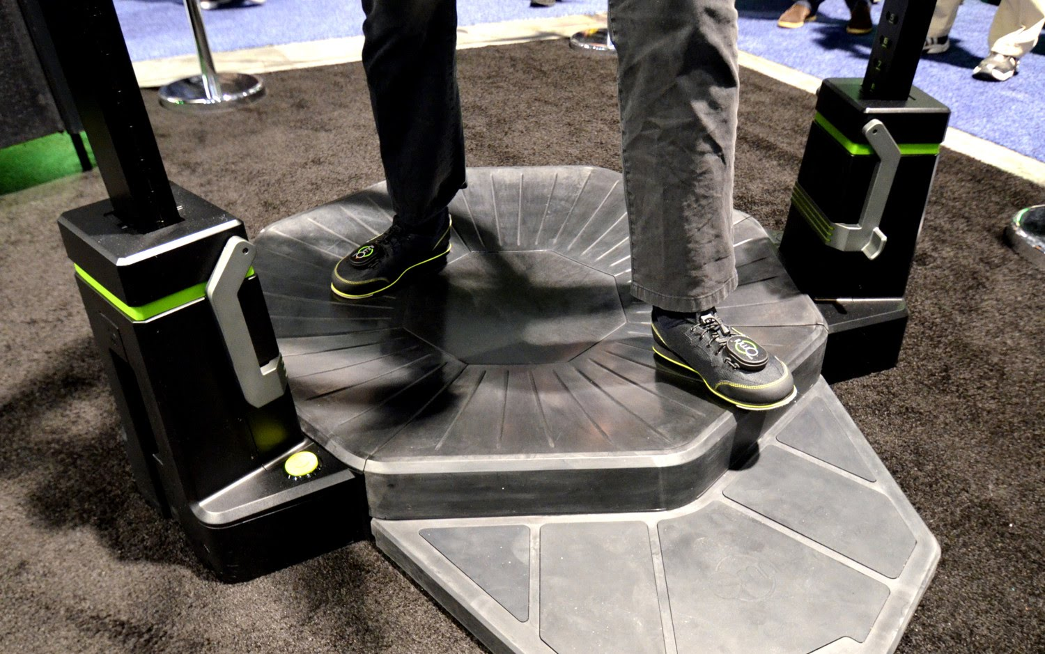 Hands-on With Virtuix Omni VR Treadmill Production Model (video)