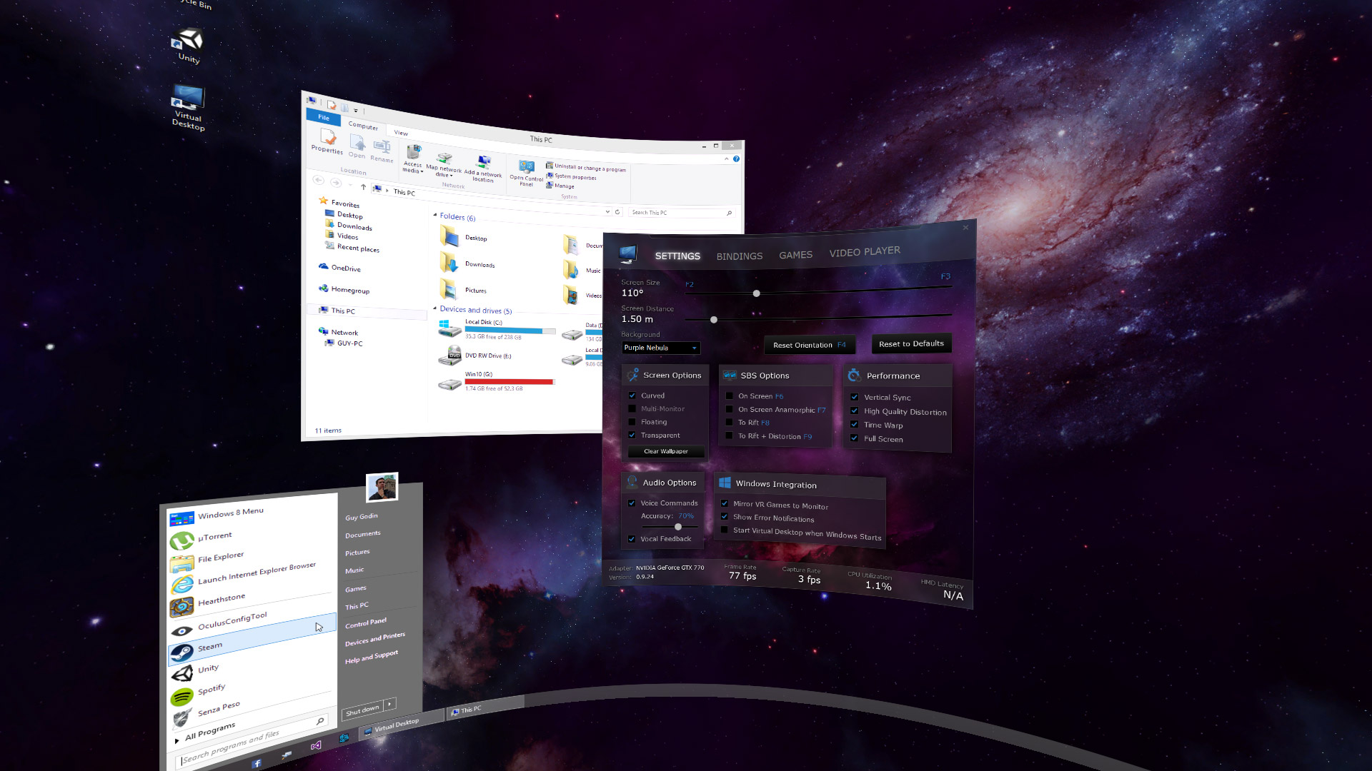 3d Virtual Desktop Virtual Desktop Running