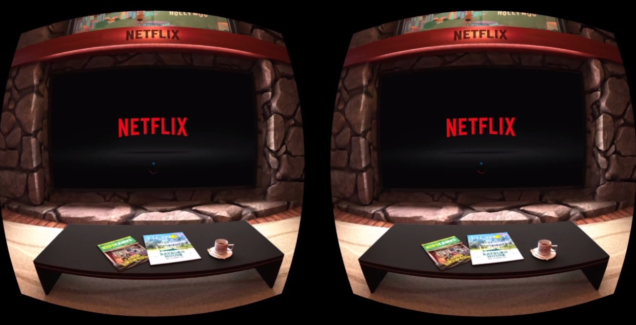 First Look At Virtual Reality Netflix In Motion On The
