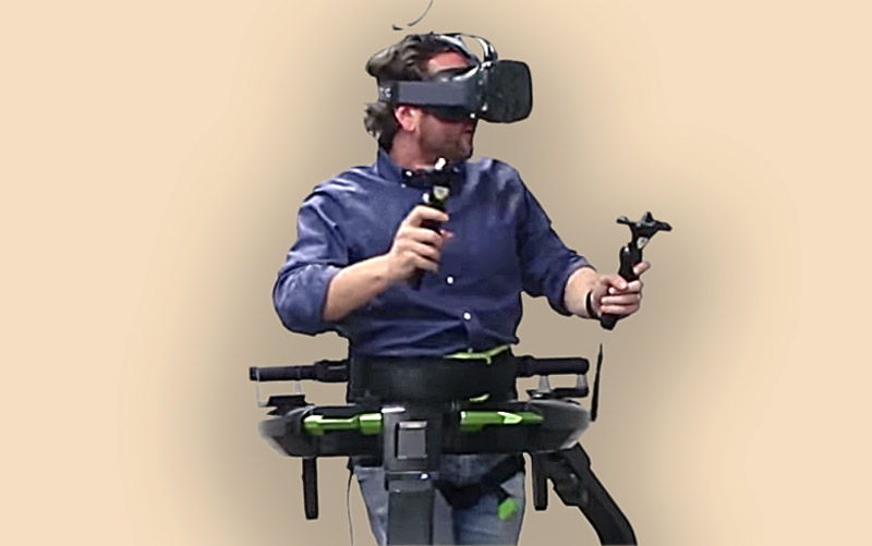 Virtuix Omni with HTC Vive Enables Fully Decoupled Motion
