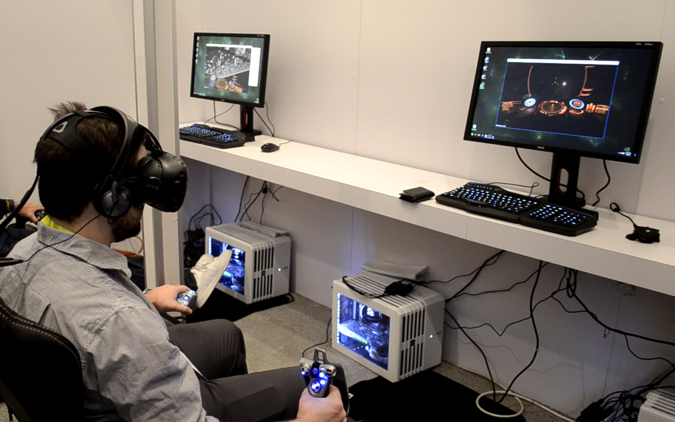 Htc Shows Vive Pre Working Great For Seated Vr At Ces