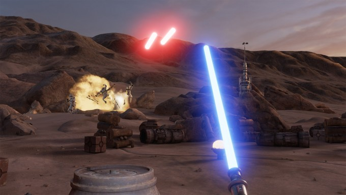 star wars trials of tatooine virtual reality htc vive vr lightsaber