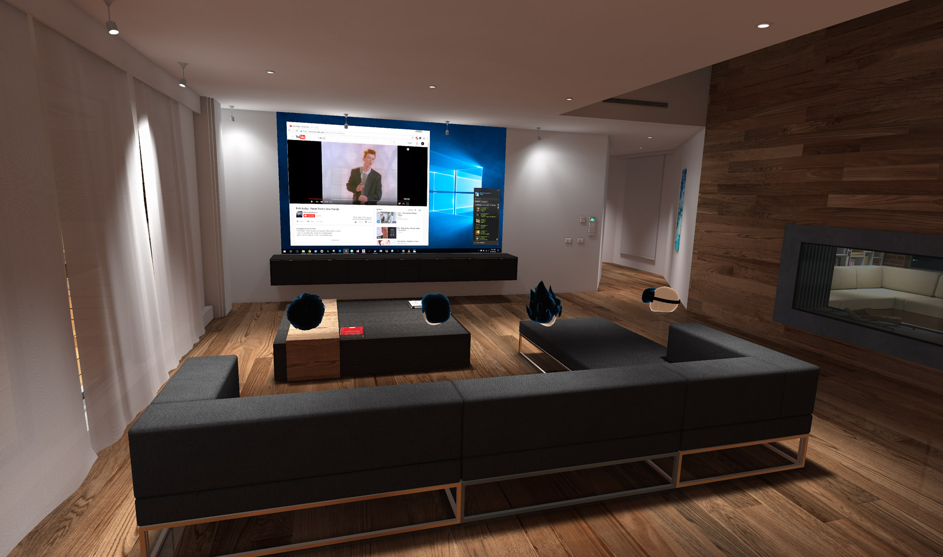39 bigscreen 39 launches on oculus home update brings custom for Vr house