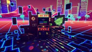 new retro arcade neon menu