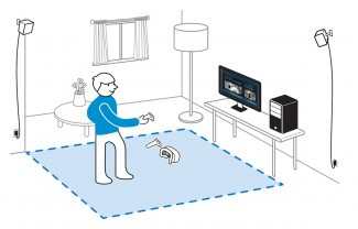 The HTC Vive Setup Guide shows an open playspace for roomscale VR experiences