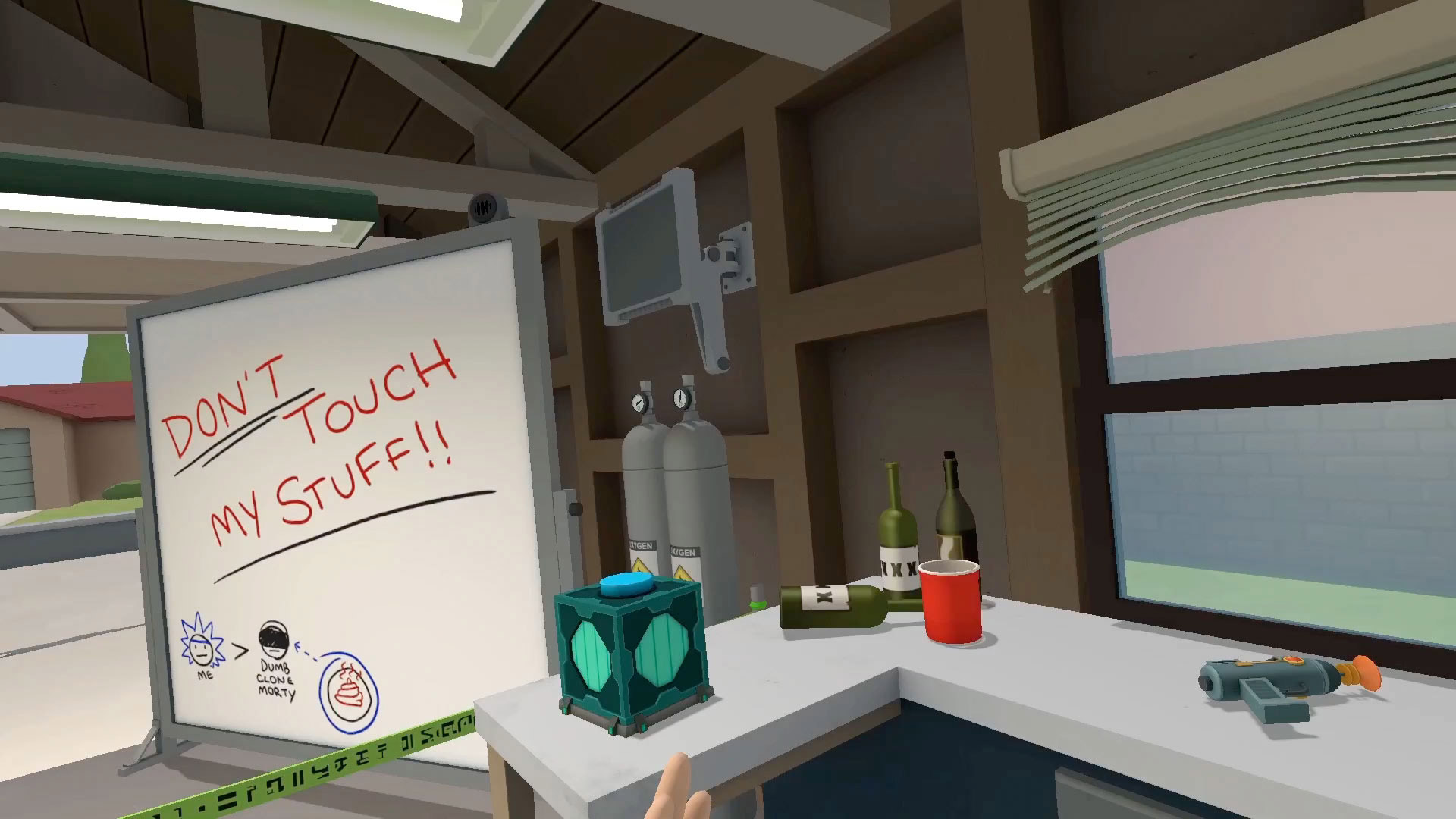 Http Www Roadtovr Com Hands On Rick And Morty Simulator Htc Vive