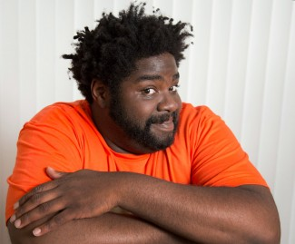 "GLENDALE, CA. JUN 02, 2014. Comedian Ron Funches at his home in Glendale on Jun 02, 2014. Stand-up comedian Ron Funches plays a lead on the new NBC sitcom ""Undateable.""(Lawrence K. Ho/Los Angeles Times)"