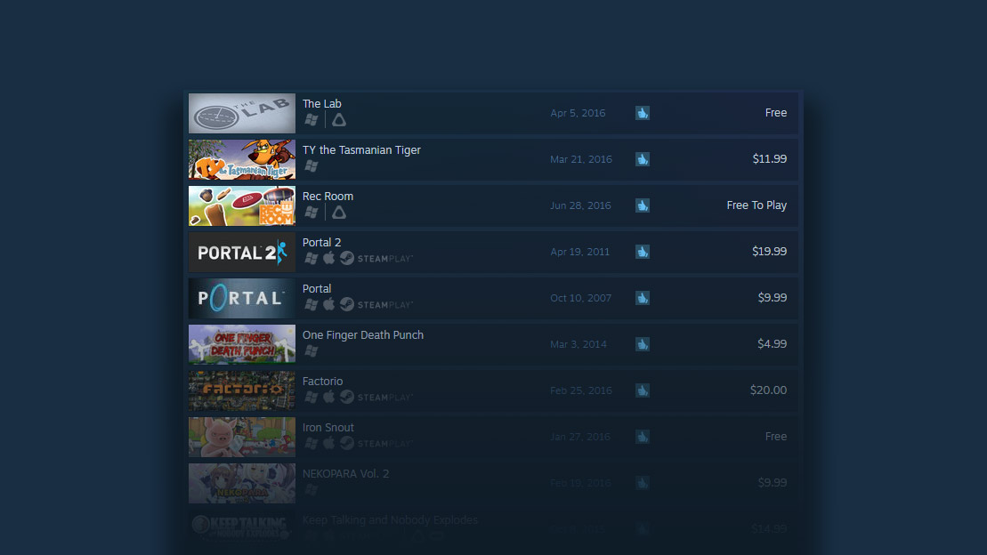Steam Now Boasts More than 600 VR Games and Apps