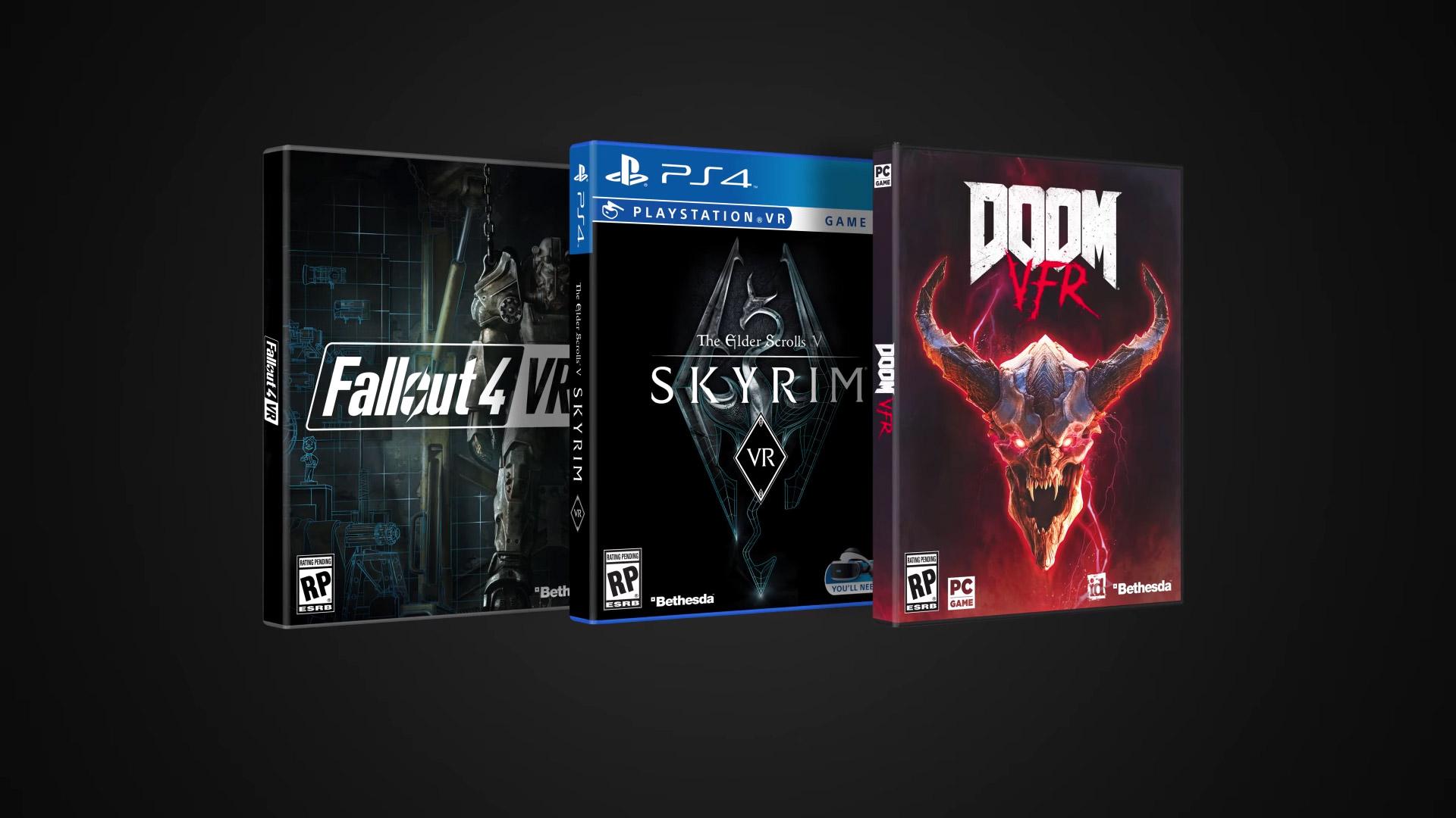 Release Dates & Platforms for 'Skyrim VR', 'Doom VFR', and
