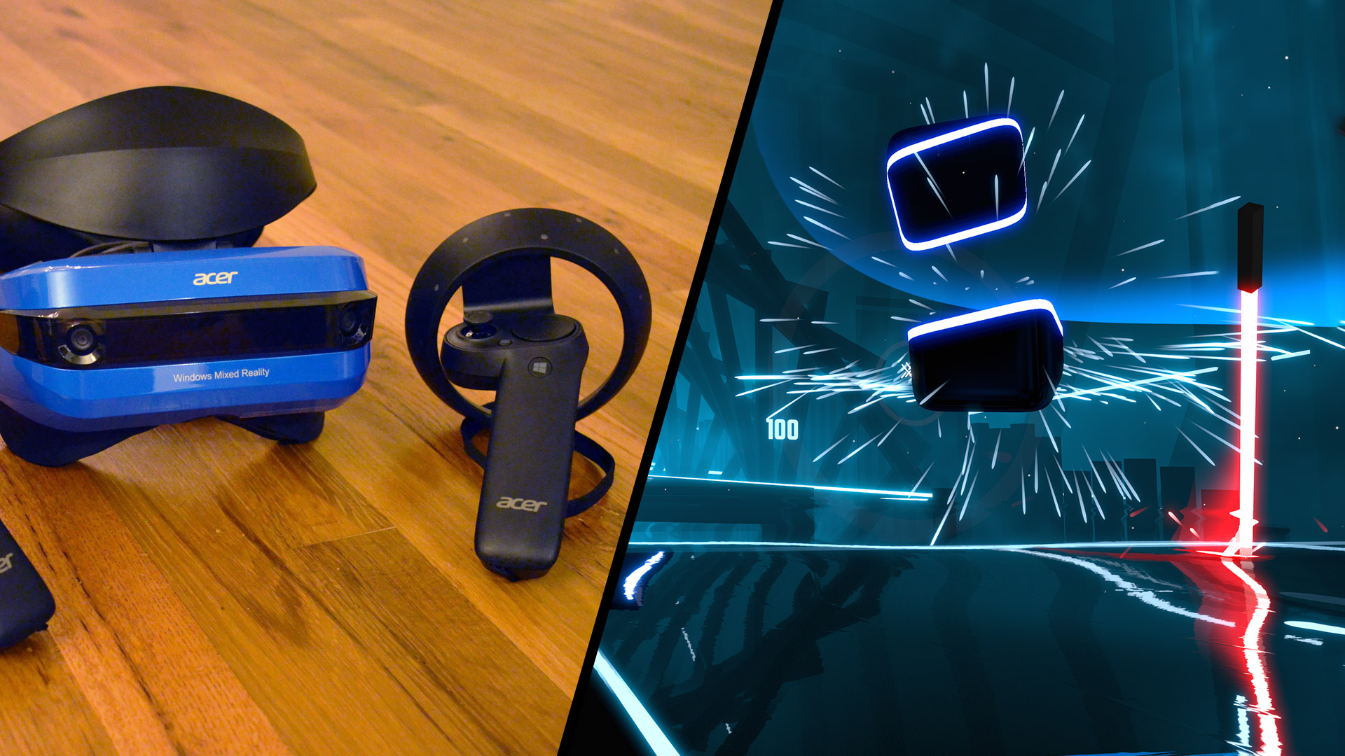 Watch Windows VR Controllers Stand up to 'Beat Saber's