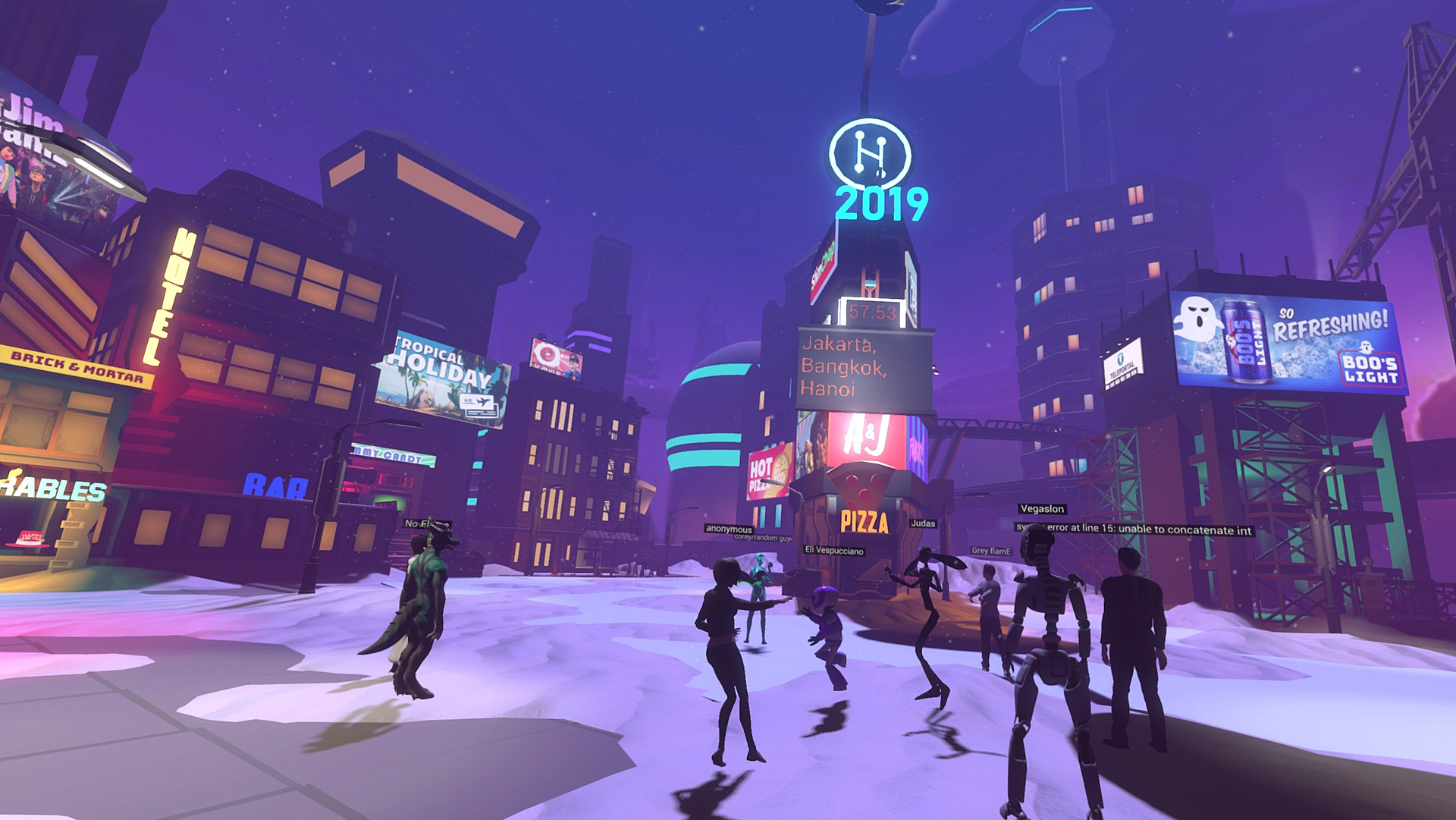 High Fidelity, VRChat, & AltspaceVR Virtual New Year's Eve Celebrations
