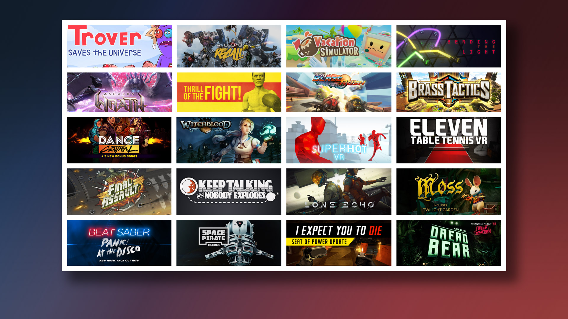 7 free games with oculus rift