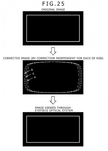 sony ps4 virtual reality hmd distrotion correction patent