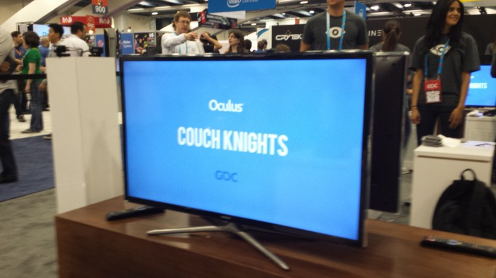 The newest Oculus demo, Couch Knights.