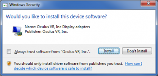 oculus display driver install