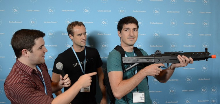 10 Seconds of Testing Striker VR's Gun Recoil System and I'm Sold – Hands-on and Interview